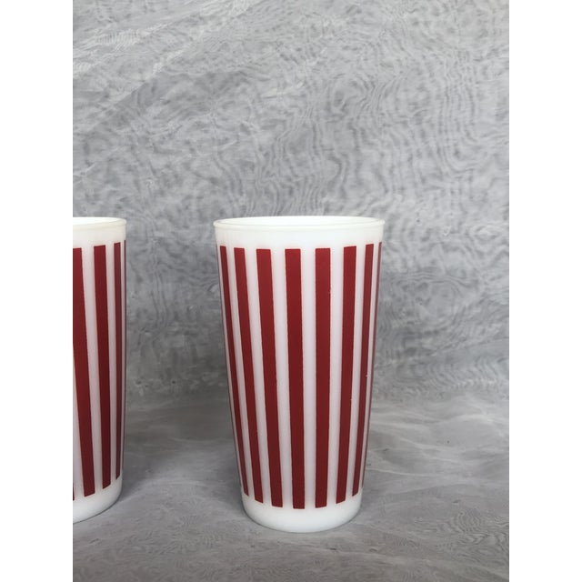 Contemporary 1940s Hazel Atlas Tall Glasses - a Pair For Sale - Image 3 of 13