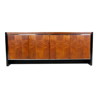 "Vintage Walnut Credenza by ""Dillingham"" Furniture For Sale"