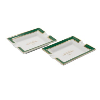 Taittinger Champagne Ceramic Ashtrays - a Pair For Sale