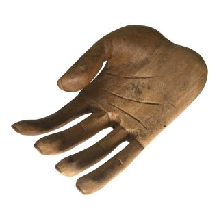 African Carved Wooden Hand Sculpture For Sale