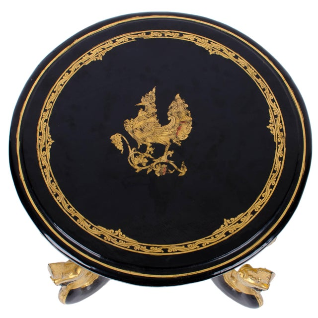 Burmese Gilt Lacquer Folding Table For Sale - Image 4 of 9