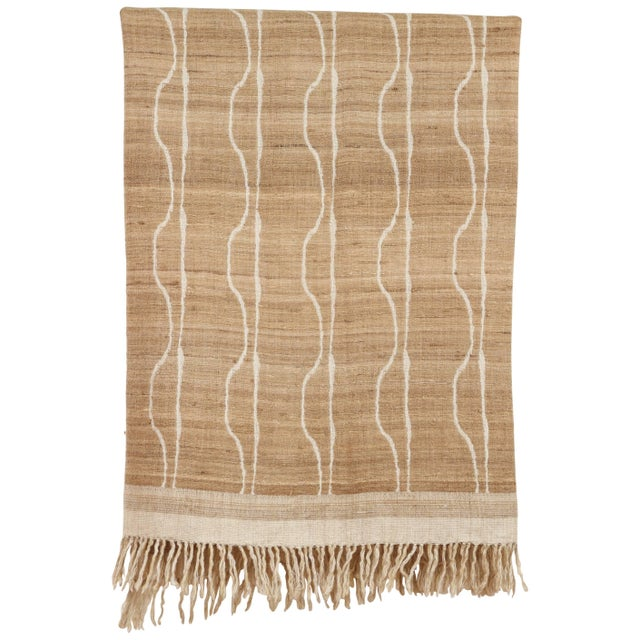 Indian Handwoven Throw Vertical Jaal For Sale - Image 4 of 4