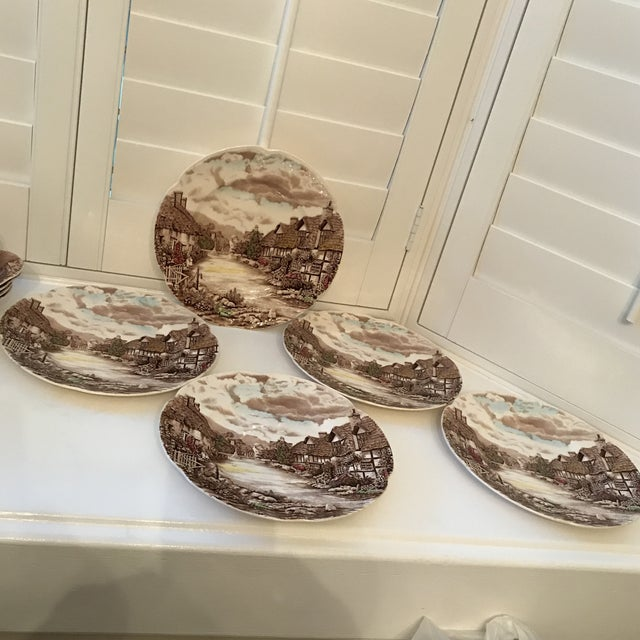 1960s Vintage Johnson Bros Olde English Countryside Serving Set - 17 Pieces For Sale - Image 9 of 13
