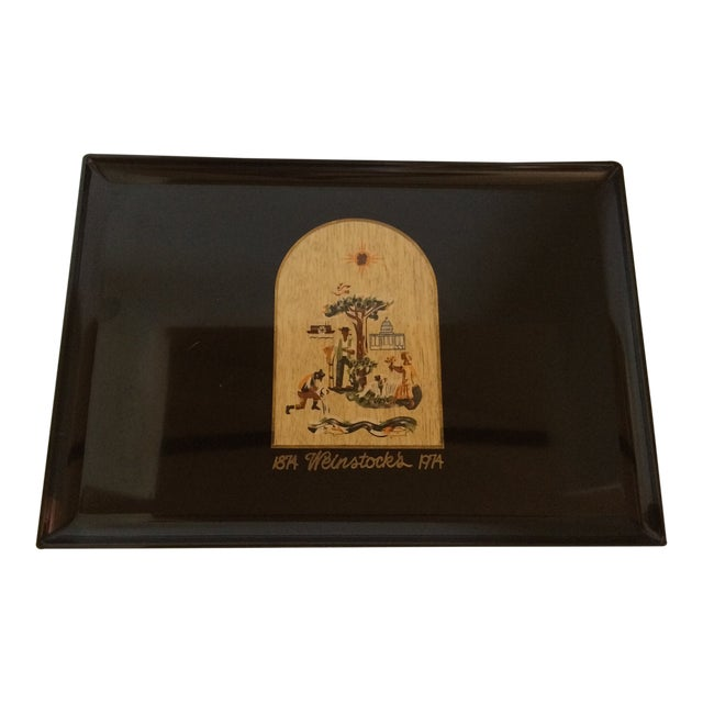 Special Vintage Couroc of Monterey Centennial Weinstocks Serving Tray For Sale