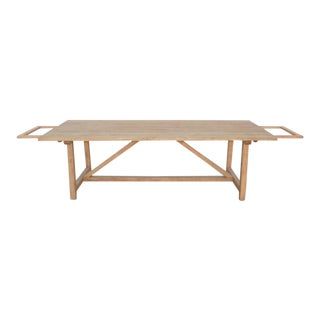 Expandable Farm Table in Reclaimed Heart-Pine For Sale