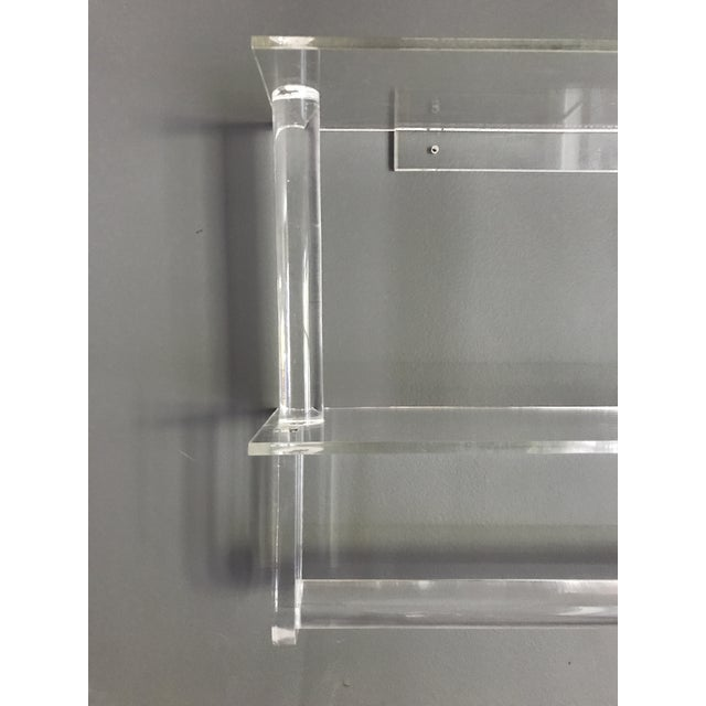Vintage Lucite Shelves with Towel Bar - Image 4 of 4