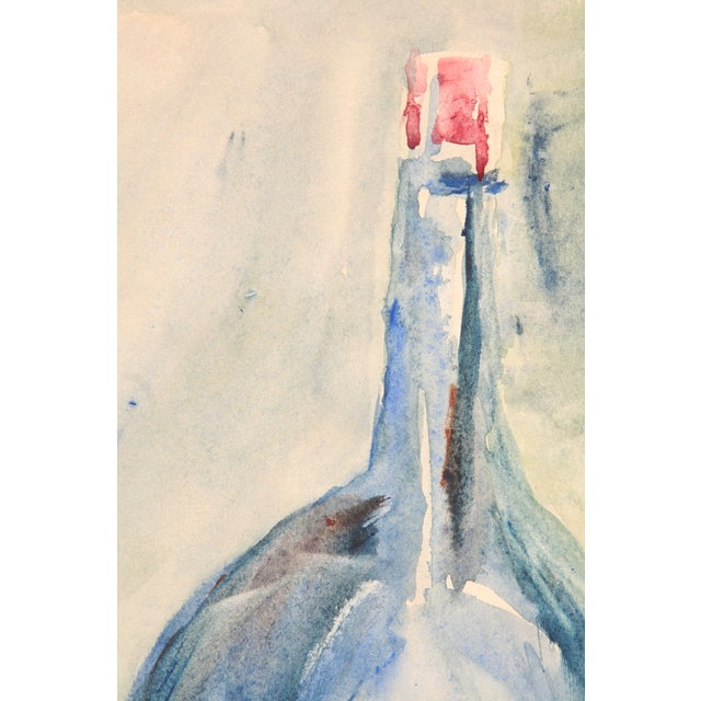 Blue Bottle Watercolor Painting by Kathryn Bernard - Image 3 of 4