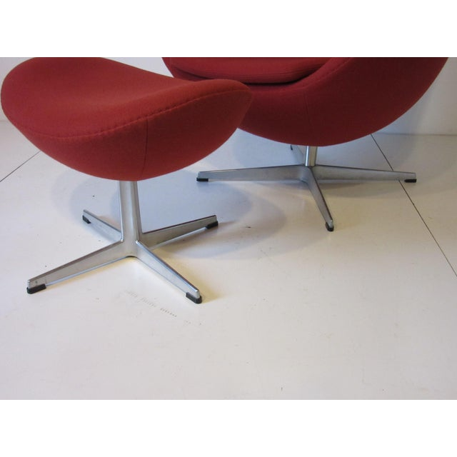 Distinguished Arne Jacobsen Egg Chair And Ottoman Decaso
