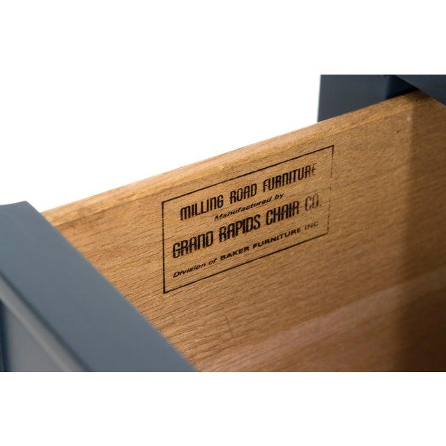 Baker Teal & Red Milling Road Tambour Dresser - Image 6 of 8