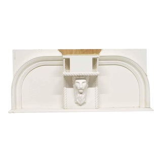 Reclaimed Wooden Lion 32.5 In. Over Mantel Shelf For Sale