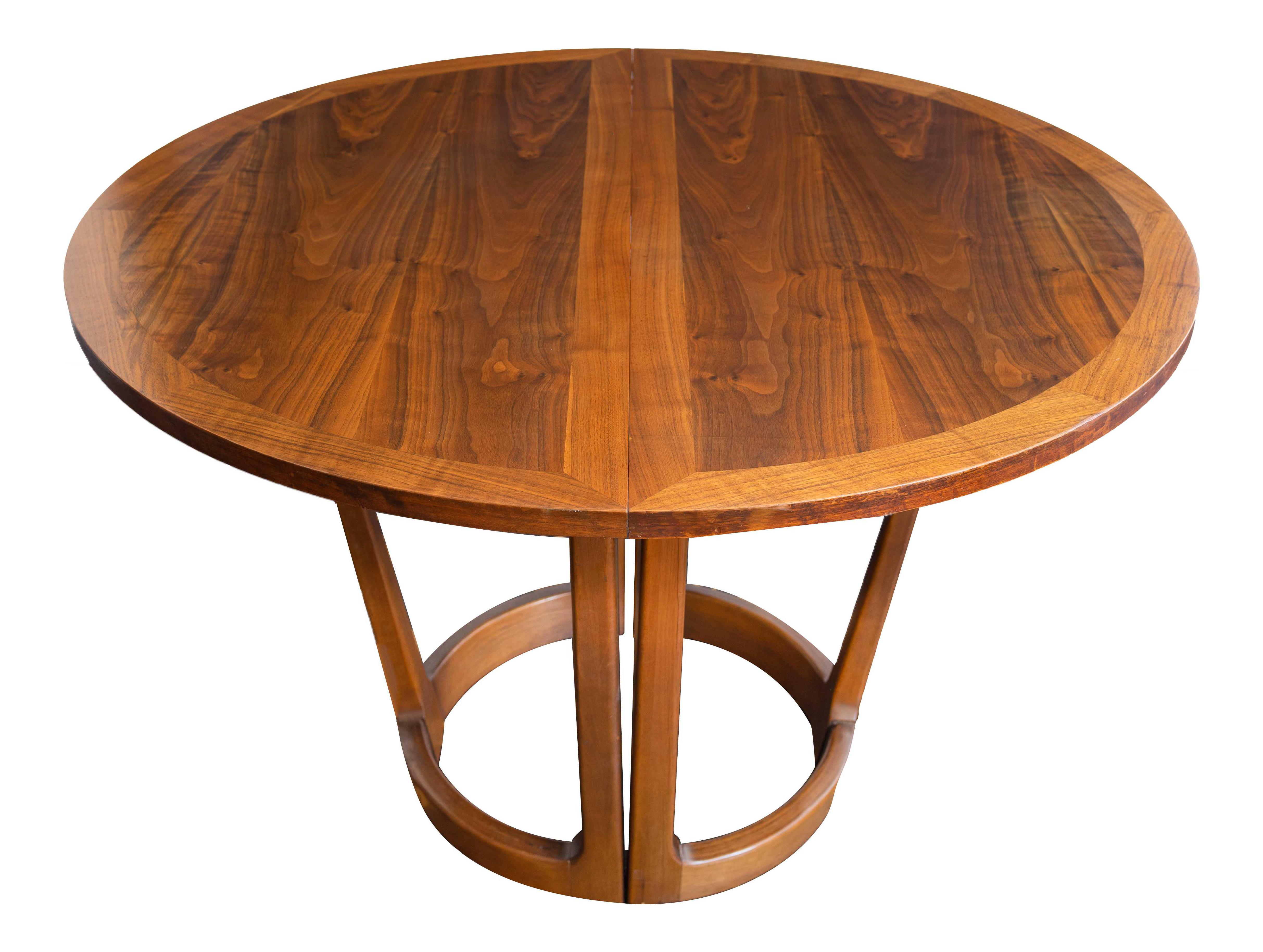 Vintage Mid Century Lane Rhythm Expandable Round Dining Table Chairish