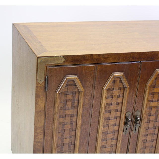Thomasville Mid-Century Walnut Cabinets - a Pair For Sale - Image 4 of 10