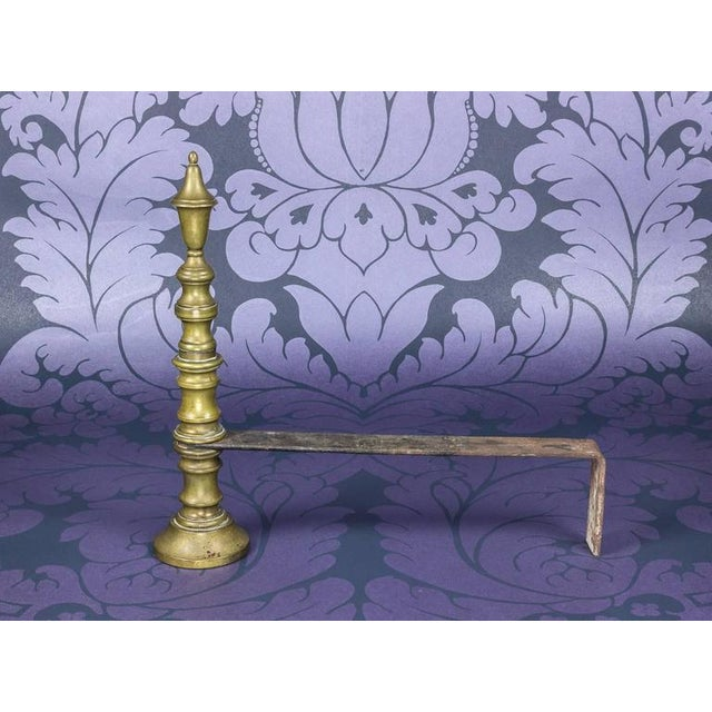 Early 20th Century French Brass Andirons - Image 3 of 8