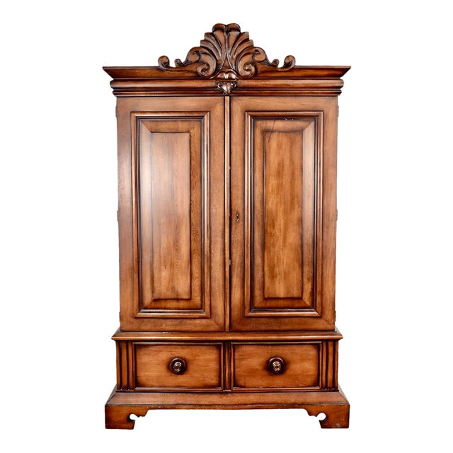 Final Markdown Vintage Ralph Lauren Mahogany Armoire For Sale
