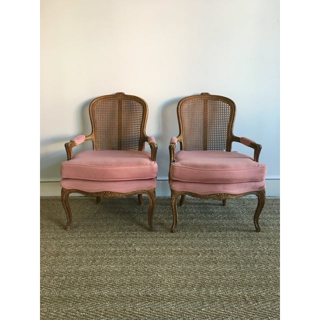 Vintage Fence Cain Bergere Chairs - A Pair - Image 5 of 5