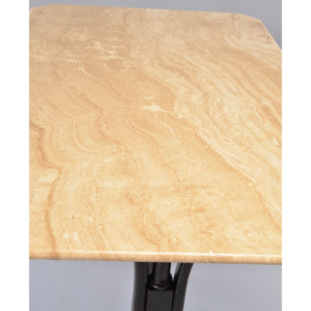 Bentwood Pub Table With Marble Top and Ebonised Bentwood Base For Sale - Image 7 of 12