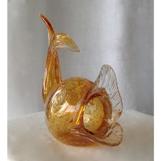 Italian Murano Amber & Gold Dust Fish For Sale In West Palm - Image 6 of 11