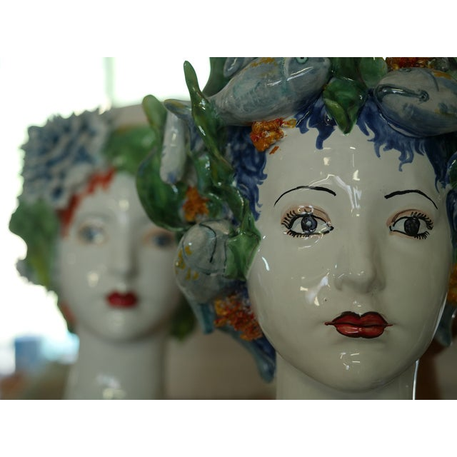 Sculpture with Roses, Ceramiche D'arte Dolfi For Sale - Image 10 of 12