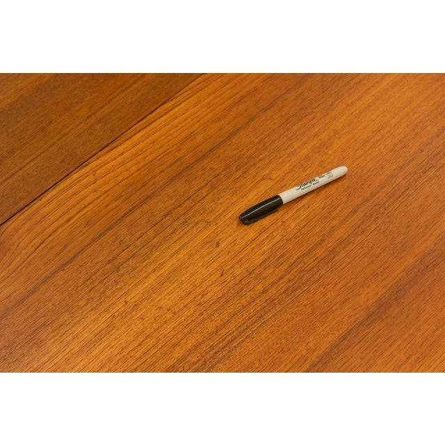 Brown Arne Vodder Sibast - Mid- Century Solid Teak Dining Table With 2 Leaves. For Sale - Image 8 of 12