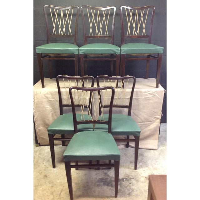 Mid-Century Italian Rope Back Dining Chairs - Set of 6 - Image 2 of 11