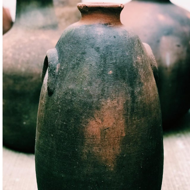 Rustic Vintage Decorative Terracotta Vessel For Sale - Image 3 of 5