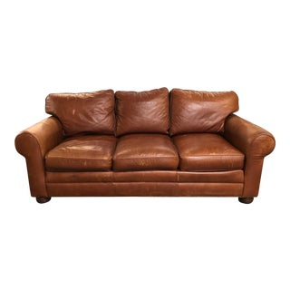 Traditional Stickley Cibola Internationale Leather Sofa For Sale