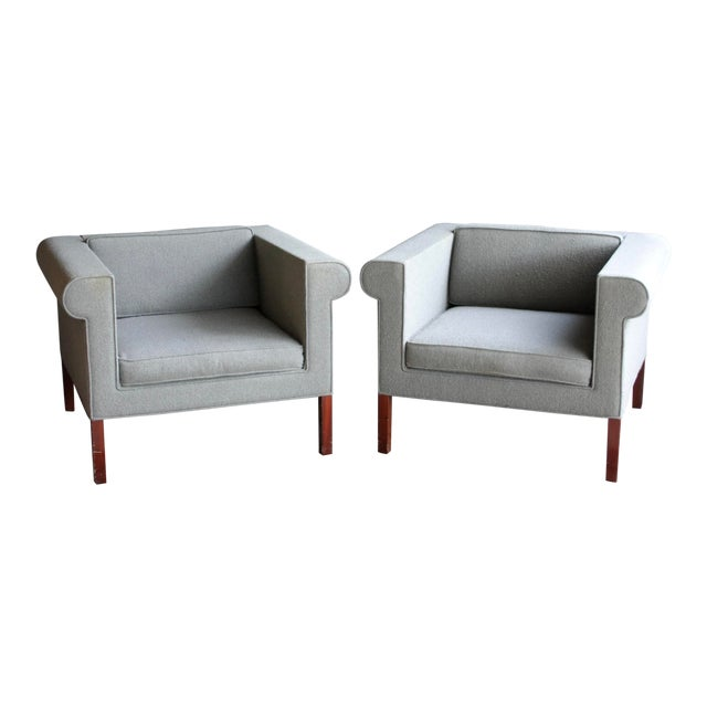Charles McMurray Postmodern Lounge Chairs, a Pair For Sale
