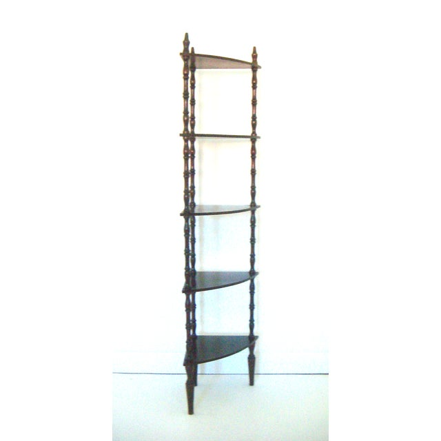 Vintage Mahogany Corner Etagere with Five Shelves - Image 2 of 5