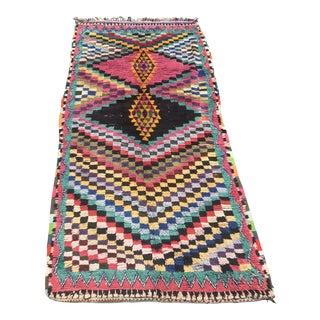 Vintage Berber Boucherouite Moroccan Rug - 5″ × 10″ For Sale
