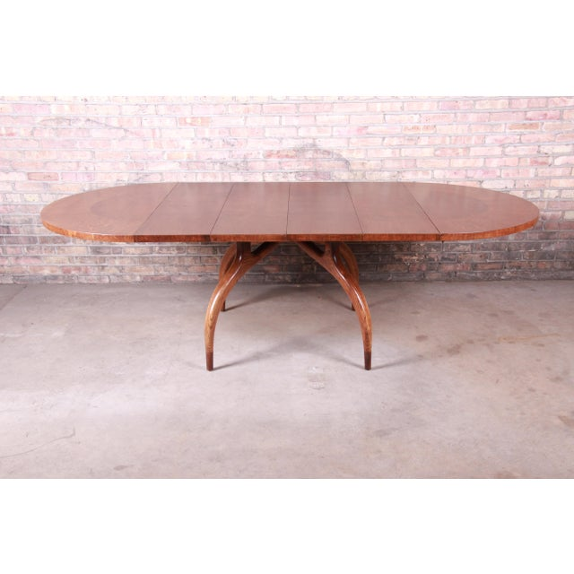 Harold Schwartz for Romweber Mid-Century Modern Spider Leg Extension Dining Table, Newly Restored For Sale - Image 13 of 13