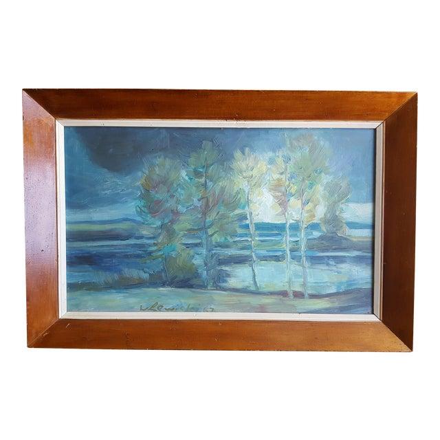 1967 W. Lewicki Landscape Painting For Sale