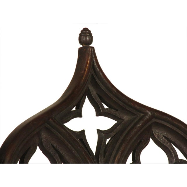 19th Century. Vintage Gothic Dining Chairs - Set of 8 For Sale - Image 11 of 12