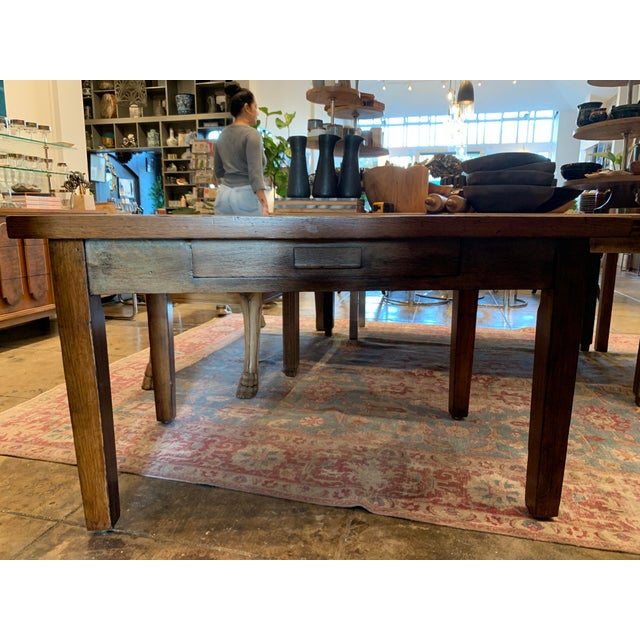 Late 19th Century Antique Primitive Dining Table For Sale - Image 5 of 10