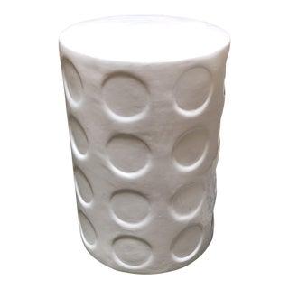 Phil Michael Trading Compnay White Ceramic Garden Stool