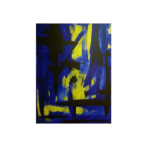 Abstract painting from the estate of Bert Miripolsky, 1953. American artist Miripolsky studied painting at the Chicago Art...