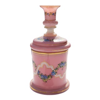 Antique Porcelain Floral Motif Lidded Jar For Sale