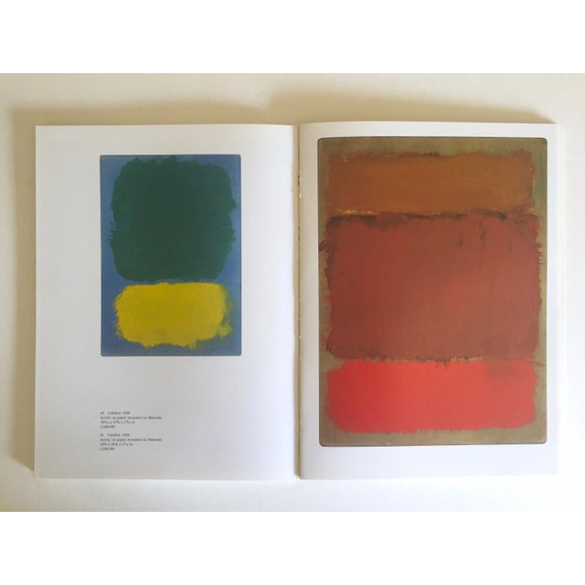 """"""" Mark Rothko : Works on Paper """" Vintage 1984 1st Edtn Abstract Expressionist Lithograph Print Exhibition Art Book For Sale - Image 10 of 13"""