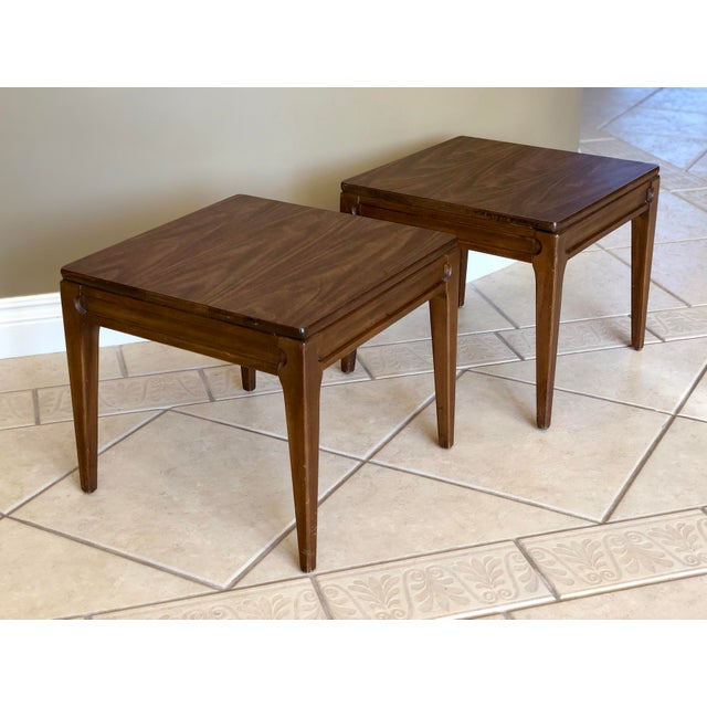 Mid-Century Modern 1960s Mid-Century Modern Mersman Side Tables - a Pair For Sale - Image 3 of 9