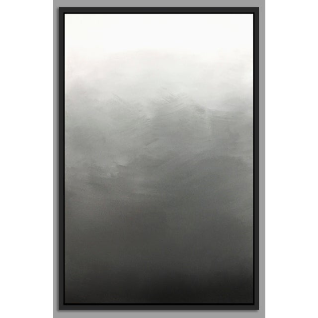 """""""Abstract Gray Ombré"""" Framed Giclée Print - Image 2 of 3"""