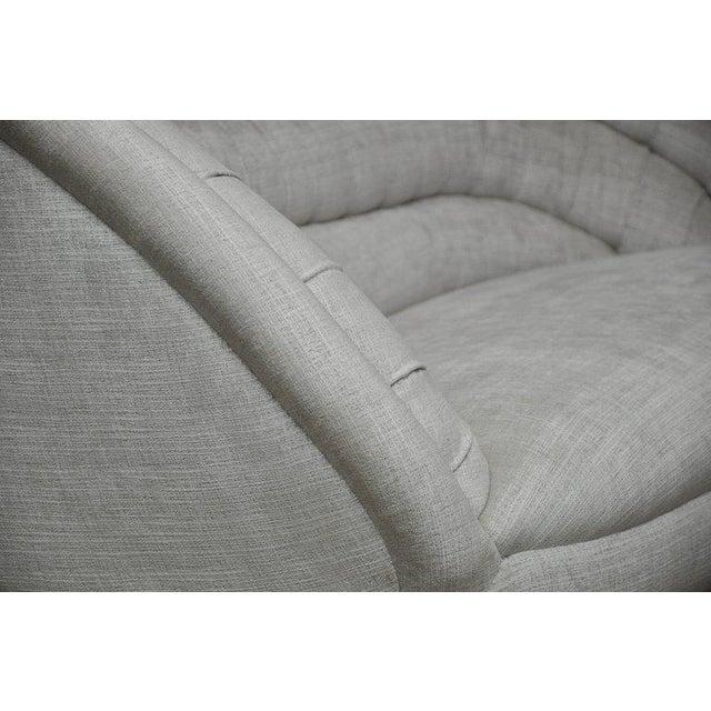 Vladimir Kagan Crescent Sofa on Brass Base For Sale - Image 5 of 8