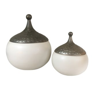Contemporary Julia Buckingham for Global Views Teardrop Bowls - a Pair For Sale