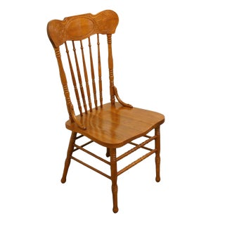 Lexington Furniture Victoriana Series Solid Oak Desk / Accent Chair 610-537 For Sale