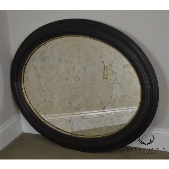Traditional Roma Large Oval Frame Italian Wall Mirror For Sale - Image 3 of 13