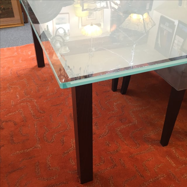 Calligaris Sandblasted Glass Extension Table - Image 7 of 9