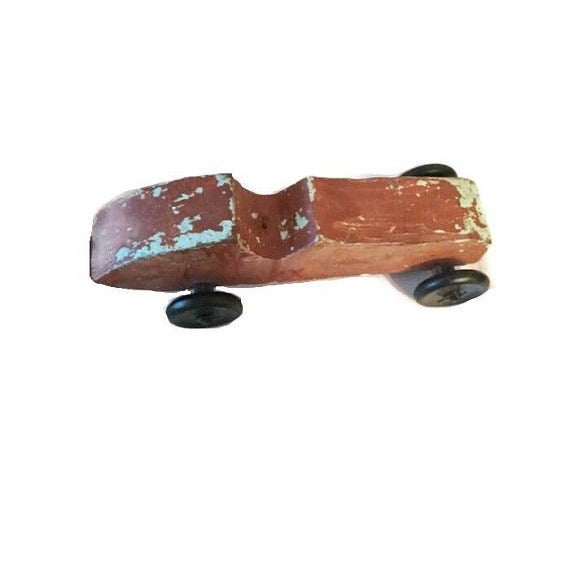 Handmade Race Car Pull Toy - Image 8 of 8