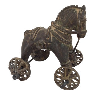 Antique Bronze Toy Horse From India For Sale
