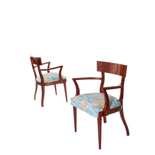 1960's Vintage Klismos Accent Chairs- A Pair For Sale