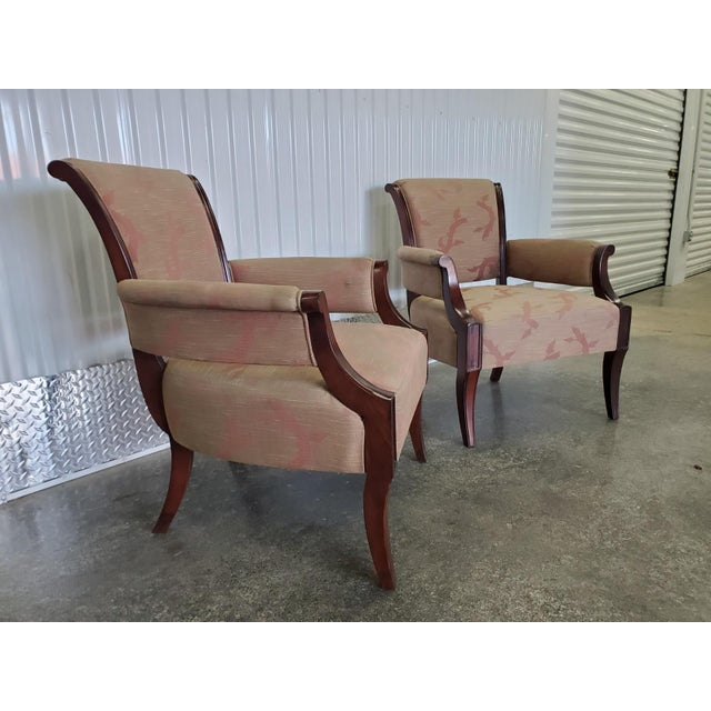 Modern Chic Barbara Barry Lounge Chairs for Baker Furniture - a Pair For Sale - Image 3 of 8