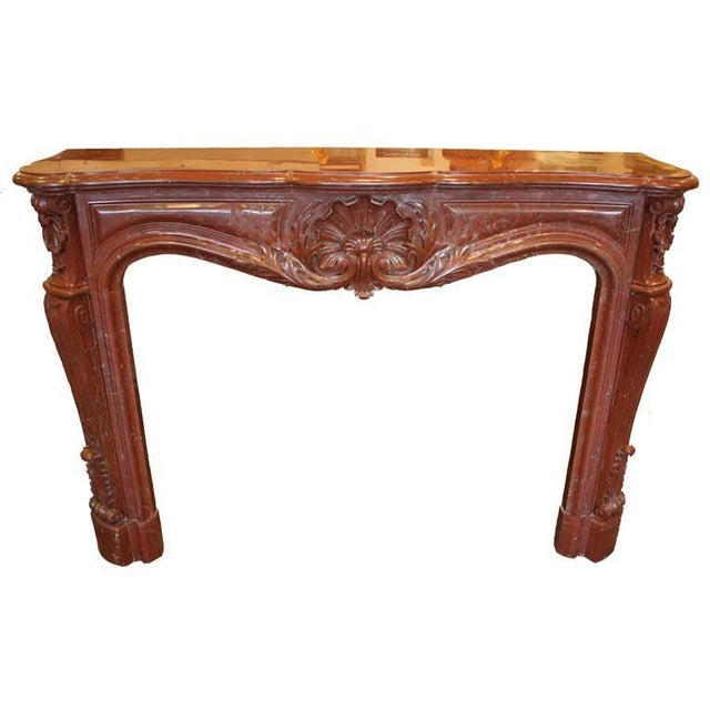 Antique French Louis XV Marble Mantel For Sale - Image 9 of 9