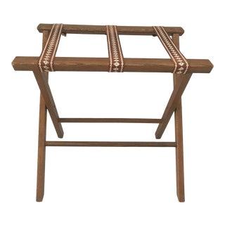 Vintage Wooden Folding Luggage Rack For Sale